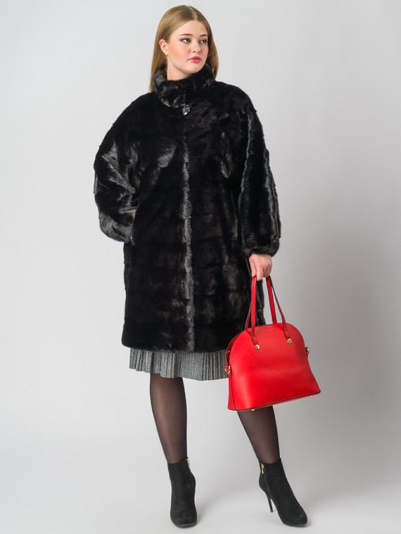 Шуба из норки мех норка, цвет черный, арт. 18006390  - цена 71990 руб.  - магазин TOTOGROUP