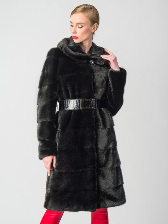 Шуба из норки мех норка, цвет черный, арт. 18006393  - цена 63990 руб.  - магазин TOTOGROUP