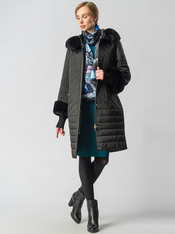 Пуховик текстиль, цвет черный, арт. 18006398  - цена 22690 руб.  - магазин TOTOGROUP