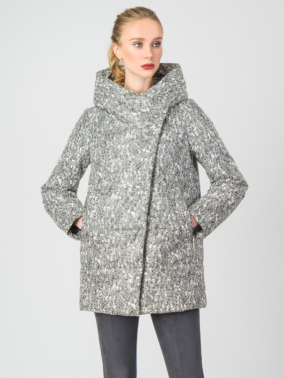 Кожаная куртка эко-кожа 100% П/А, цвет серый, арт. 18006433  - цена 3390 руб.  - магазин TOTOGROUP
