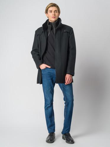 Текстильное пальто 30%шерсть, 70% п.э, цвет черный, арт. 18006434  - цена 4490 руб.  - магазин TOTOGROUP