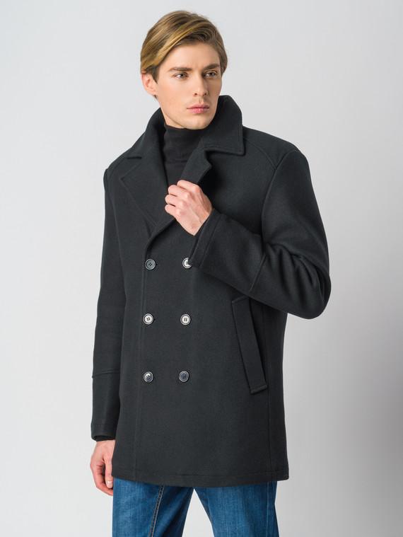 Текстильное пальто 30%шерсть, 70% п.э, цвет черный, арт. 18006436  - цена 5890 руб.  - магазин TOTOGROUP