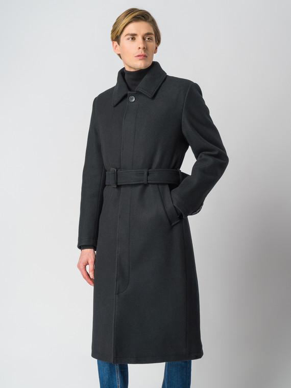 Текстильное пальто 30%шерсть, 70% п.э, цвет черный, арт. 18006437  - цена 8990 руб.  - магазин TOTOGROUP