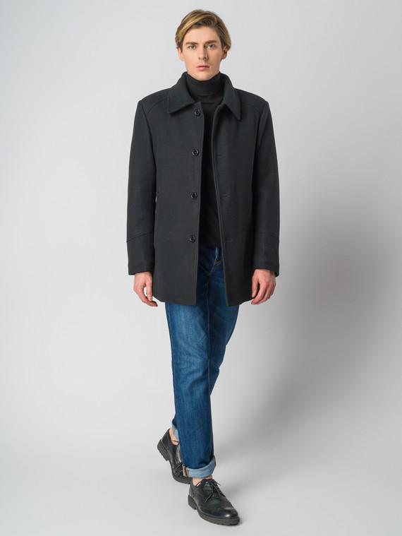 Текстильное пальто 30%шерсть, 70% п.э, цвет черный, арт. 18006438  - цена 5290 руб.  - магазин TOTOGROUP