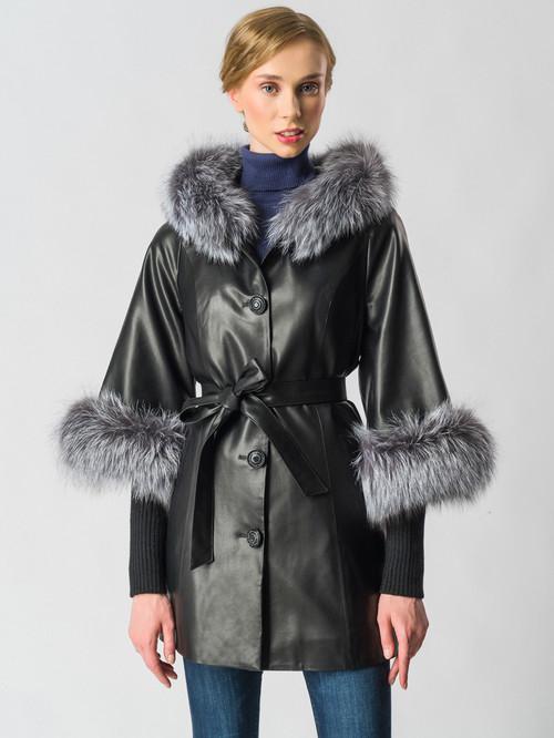 Кожаная куртка артикул 18006457/44 - фото 2