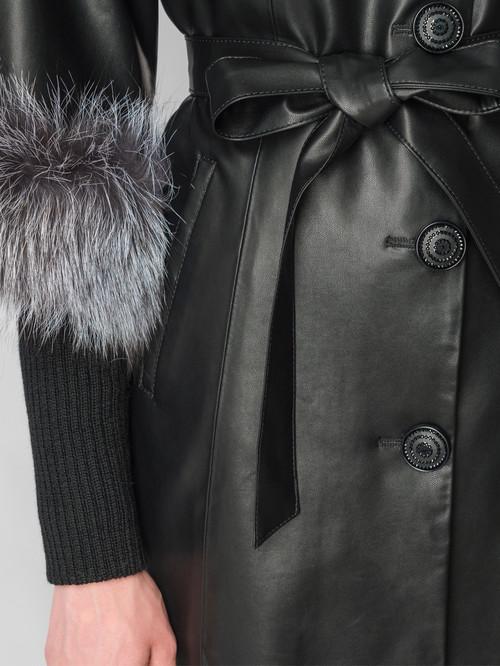 Кожаная куртка артикул 18006457/44 - фото 4