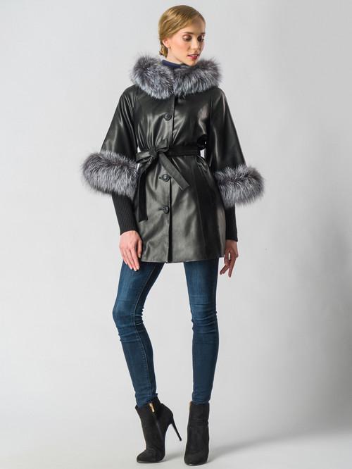 Кожаная куртка артикул 18006457/44