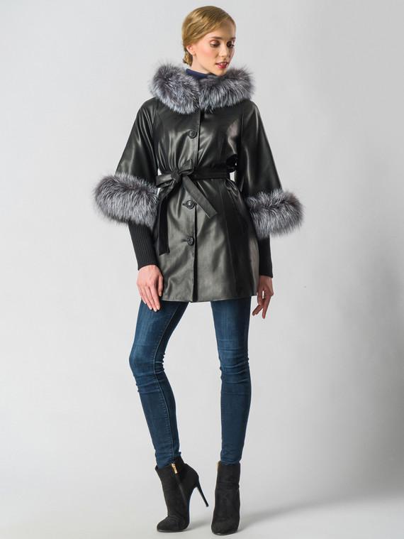 Кожаная куртка эко-кожа 100% П/А, цвет черный, арт. 18006457  - цена 11290 руб.  - магазин TOTOGROUP