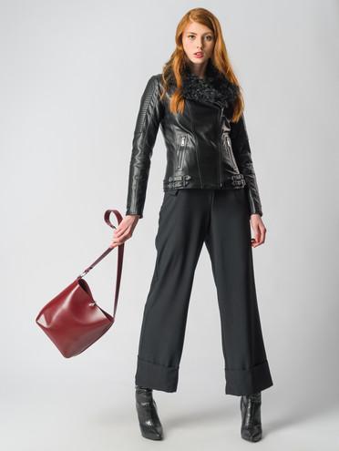 Кожаная куртка эко-кожа 100% П/А, цвет черный, арт. 18006459  - цена 10590 руб.  - магазин TOTOGROUP