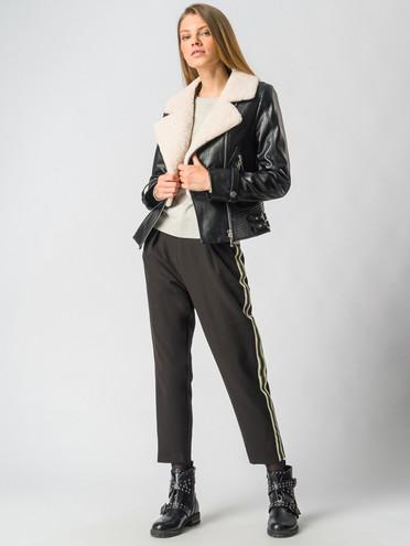 Кожаная куртка эко кожа 100% П/А, цвет черный, арт. 18006467  - цена 12690 руб.  - магазин TOTOGROUP