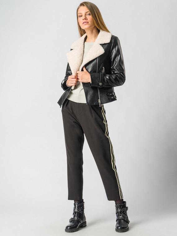 Кожаная куртка эко-кожа 100% П/А, цвет черный, арт. 18006467  - цена 12690 руб.  - магазин TOTOGROUP