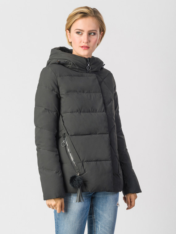 2a53924bbedab Пуховик текстиль, цвет черный, арт. 18006579 - цена 3990 руб. - магазин