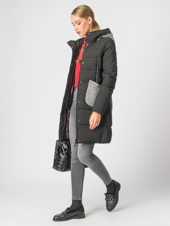 Пуховик текстиль, цвет черный, арт. 18006583  - цена 6990 руб.  - магазин TOTOGROUP