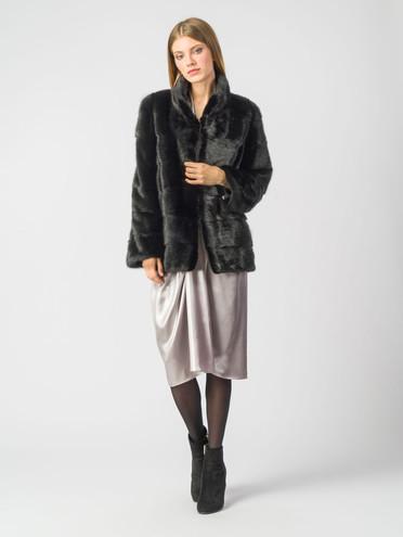 Шуба из норки мех норка, цвет черный, арт. 18006592  - цена 49990 руб.  - магазин TOTOGROUP