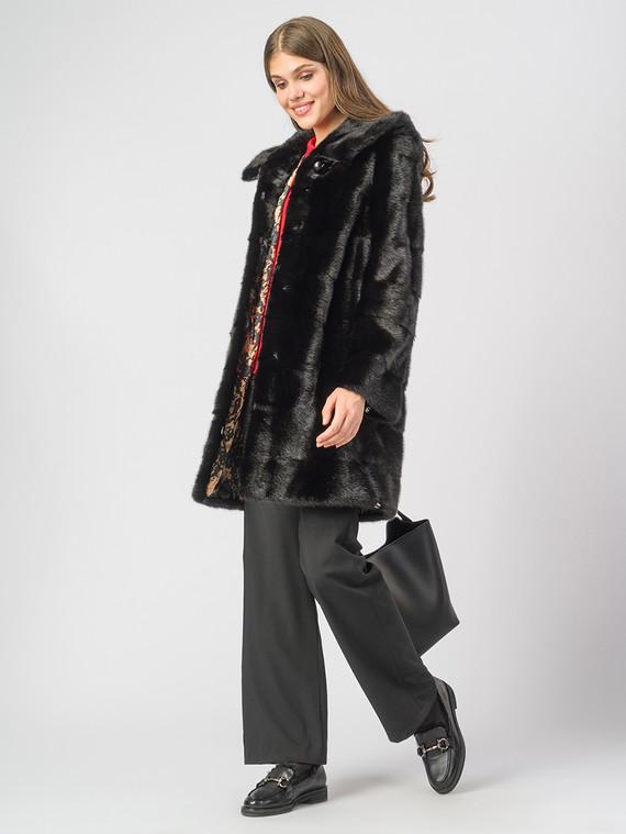 Шуба из норки мех норка, цвет черный, арт. 18006593  - цена 89990 руб.  - магазин TOTOGROUP