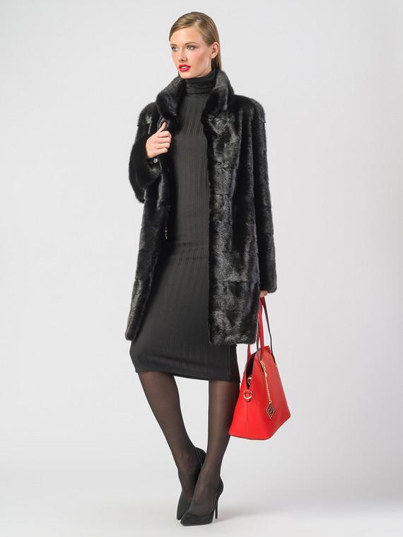 Шуба из норки мех норка, цвет черный, арт. 18006594  - цена 56490 руб.  - магазин TOTOGROUP