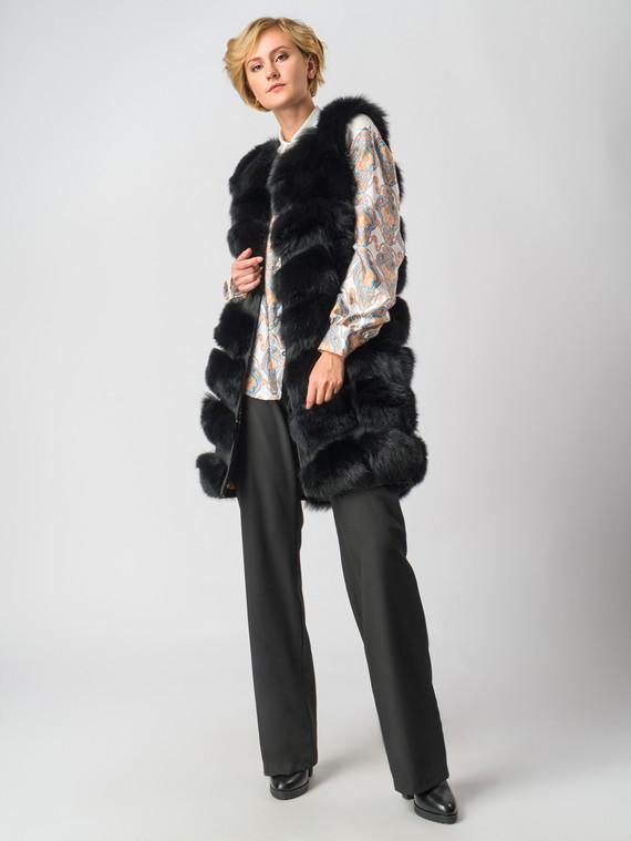 Меховой жилет мех песец, цвет черный, арт. 18006596  - цена 22690 руб.  - магазин TOTOGROUP