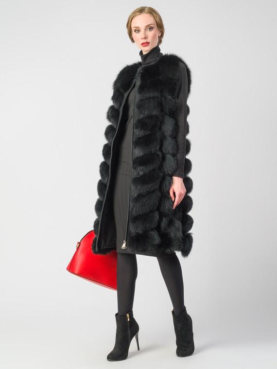 Меховой жилет мех песец, цвет черный, арт. 18006598  - цена 19990 руб.  - магазин TOTOGROUP