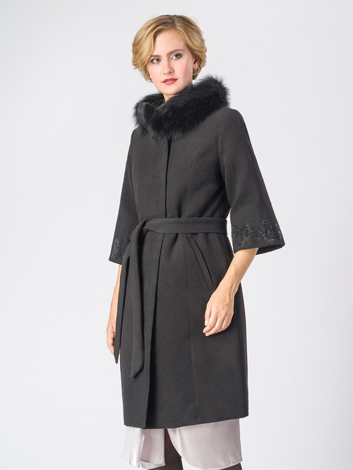 Текстильное пальто артикул 18006606/42 - фото 4