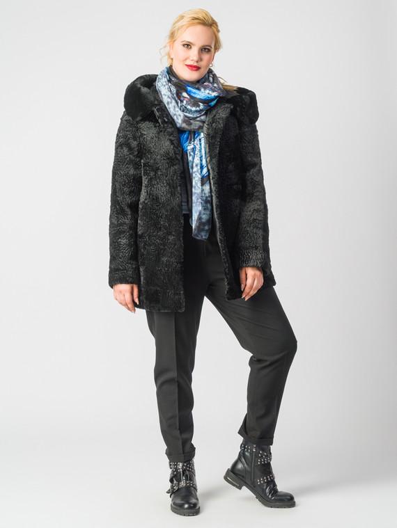 Шуба из мутона мех мутон, цвет черный, арт. 18006636  - цена 12690 руб.  - магазин TOTOGROUP