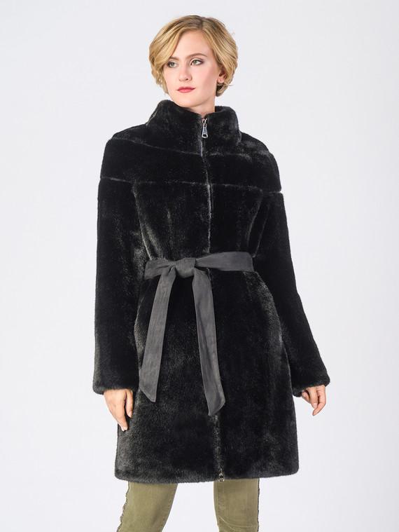 Шуба под норку мех под норку, цвет черный, арт. 18006671  - цена 9490 руб.  - магазин TOTOGROUP