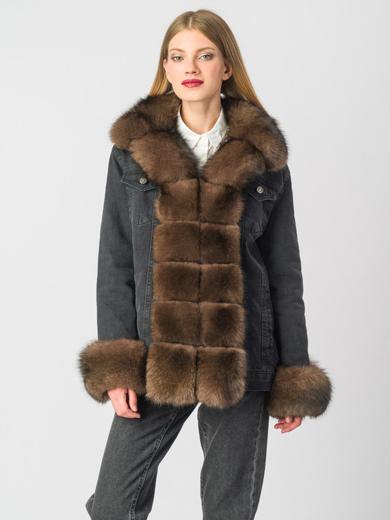 Текстильная куртка текстиль, цвет черный, арт. 18006674  - цена 21290 руб.  - магазин TOTOGROUP