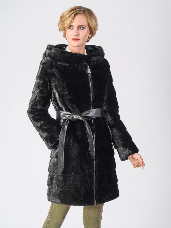 Шуба под норку мех под норку, цвет черный, арт. 18006677  - цена 11990 руб.  - магазин TOTOGROUP
