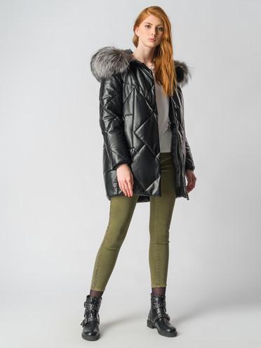 Кожаное пальто эко кожа 100% П/А, цвет черный, арт. 18006680  - цена 15990 руб.  - магазин TOTOGROUP