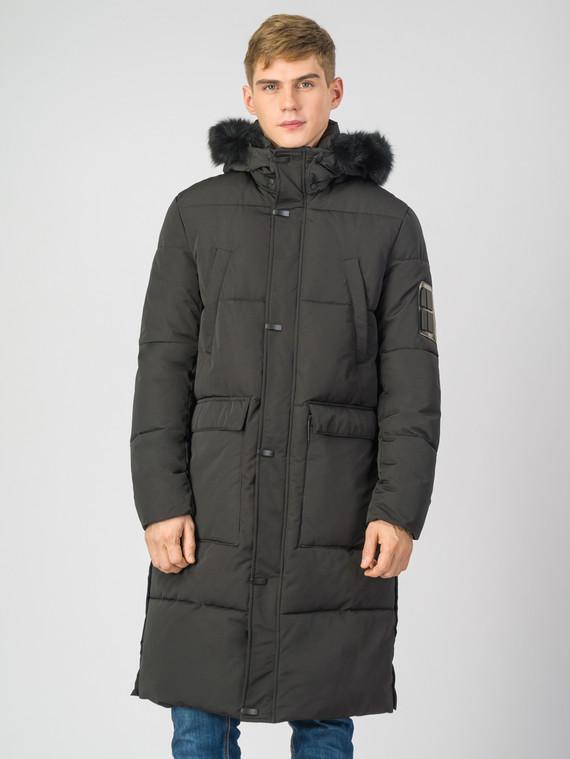 Пуховик текстиль, цвет черный, арт. 18006689  - цена 3990 руб.  - магазин TOTOGROUP