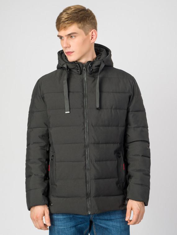 5dbe6e38ad83 Пуховик текстиль, цвет черный, арт. 18006695 - цена 2840 руб. - магазин