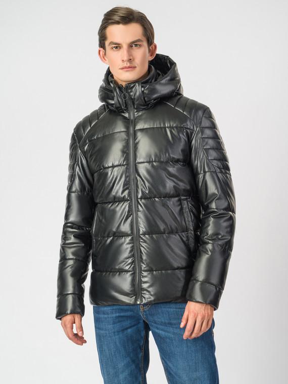 Кожаная куртка эко кожа 100% П/А, цвет черный, арт. 18006697  - цена 4990 руб.  - магазин TOTOGROUP