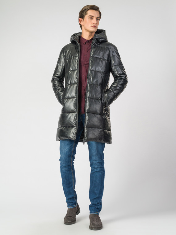 Кожаная куртка эко кожа 100% П/А, цвет черный, арт. 18006700  - цена 6990 руб.  - магазин TOTOGROUP