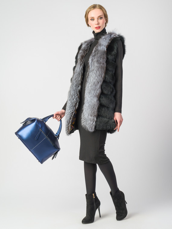 Меховой жилет мех песец, цвет черный, арт. 18006708  - цена 26990 руб.  - магазин TOTOGROUP