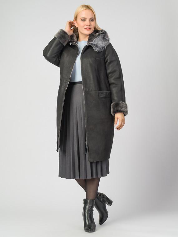 Дубленка дуб. овчина, цвет черный, арт. 18006729  - цена 23990 руб.  - магазин TOTOGROUP