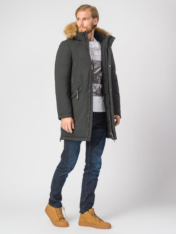 Пуховик текстиль, цвет черный, арт. 18006746  - цена 5590 руб.  - магазин TOTOGROUP