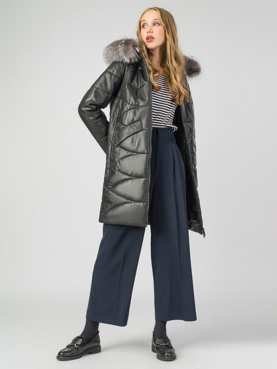 Кожаное пальто кожа , цвет черный, арт. 18006751  - цена 18990 руб.  - магазин TOTOGROUP
