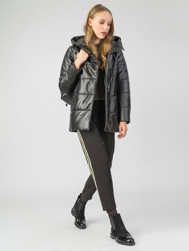 Кожаная куртка кожа , цвет черный металлик, арт. 18006752  - цена 14190 руб.  - магазин TOTOGROUP