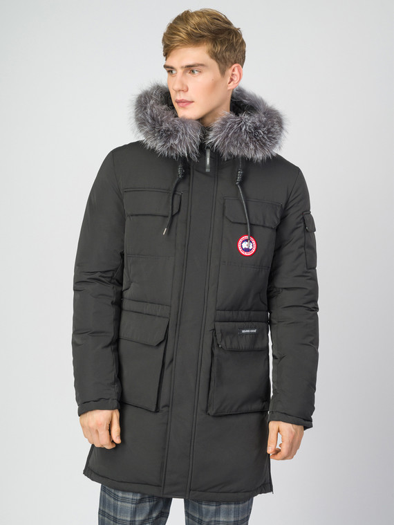 Пуховик текстиль, цвет черный, арт. 18006783  - цена 5890 руб.  - магазин TOTOGROUP