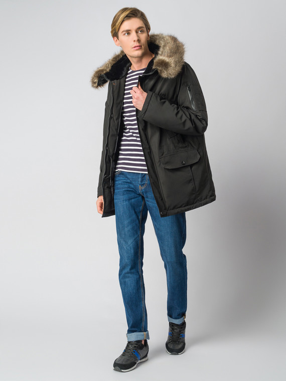 Пуховик текстиль, цвет черный, арт. 18006816  - цена 6990 руб.  - магазин TOTOGROUP