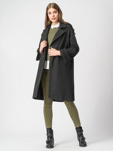 Текстильное пальто 30%шерсть, 70% п.э, цвет черный, арт. 18006817  - цена 3990 руб.  - магазин TOTOGROUP