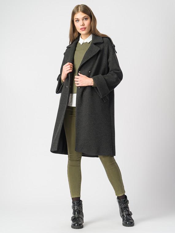 Текстильное пальто 30%шерсть, 70% п.э, цвет черный, арт. 18006817  - цена 6990 руб.  - магазин TOTOGROUP