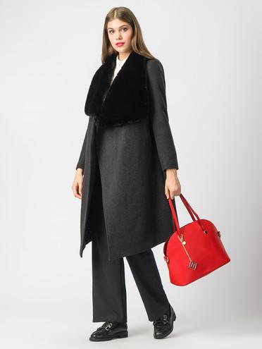Текстильное пальто 30%шерсть, 70% п.э, цвет черный, арт. 18006822  - цена 7490 руб.  - магазин TOTOGROUP