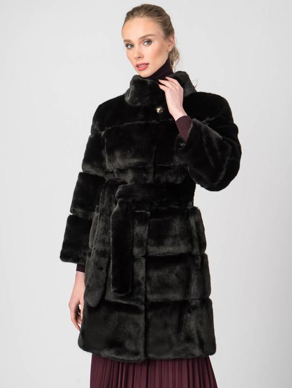 Шуба под норку мех под норку, цвет черный, арт. 18006825  - цена 9490 руб.  - магазин TOTOGROUP