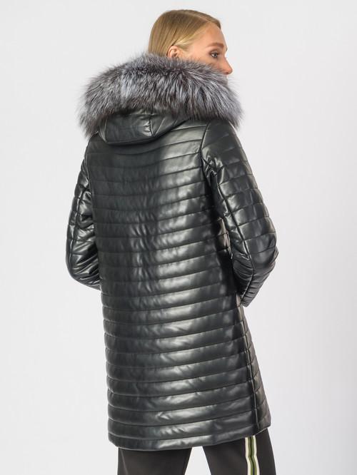 Кожаное пальто артикул 18006838/42 - фото 3