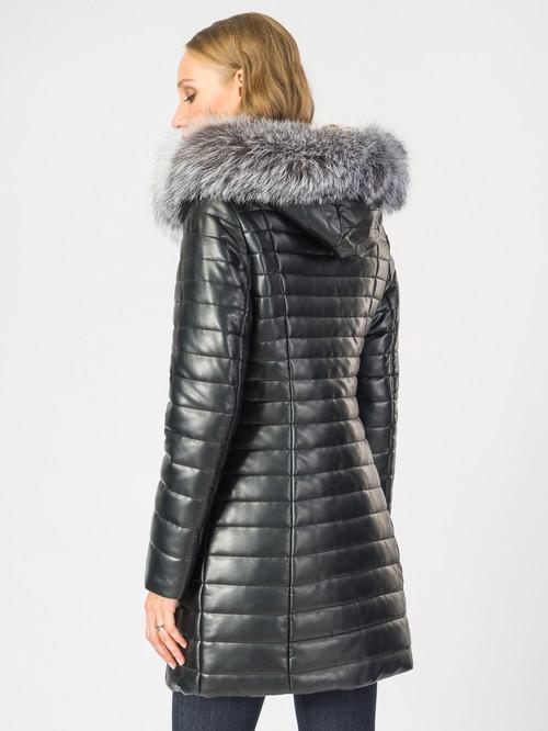 Кожаное пальто артикул 18006842/42 - фото 3
