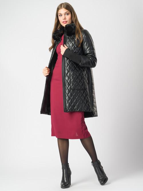 Кожаное пальто артикул 18006844/44 - фото 2