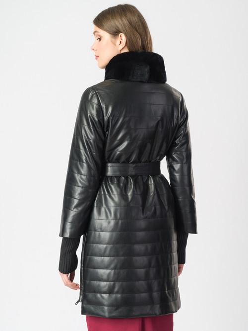 Кожаное пальто артикул 18006844/44 - фото 3