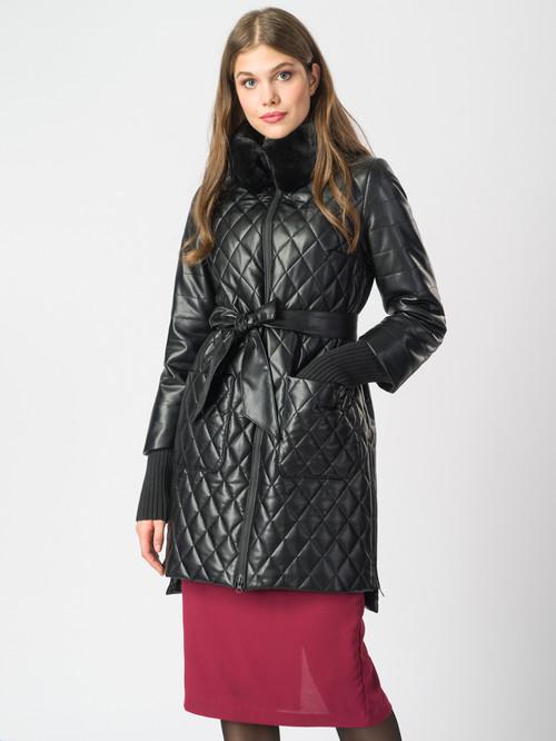 Кожаное пальто артикул 18006844/44