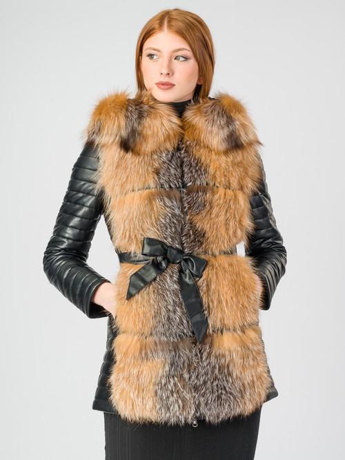 Кожаная куртка артикул 18006845/42 - фото 2