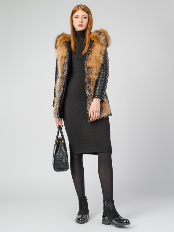 Кожаная куртка эко-кожа 100% П/А, цвет черный, арт. 18006845  - цена 11290 руб.  - магазин TOTOGROUP